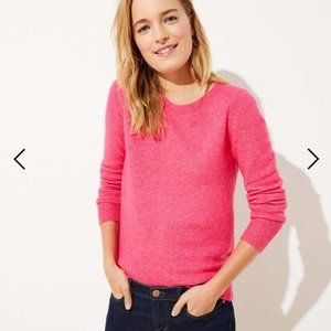 LOFT Crossover Bar Back Sweater Pink Small